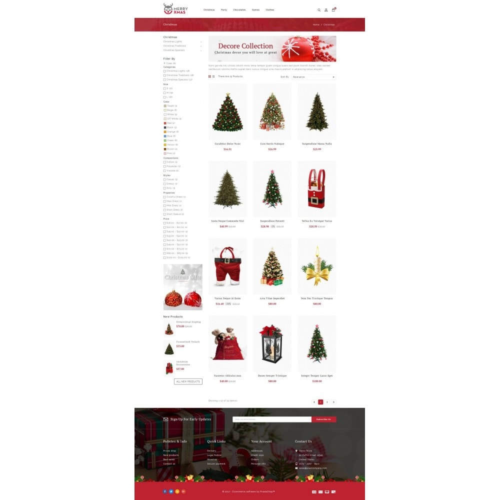 theme - Gifts, Flowers & Celebrations - Merry XMAS - Gifts & Flowers Store - 3