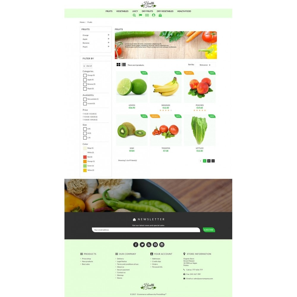 theme - Alimentation & Restauration - Healthy Food - 4