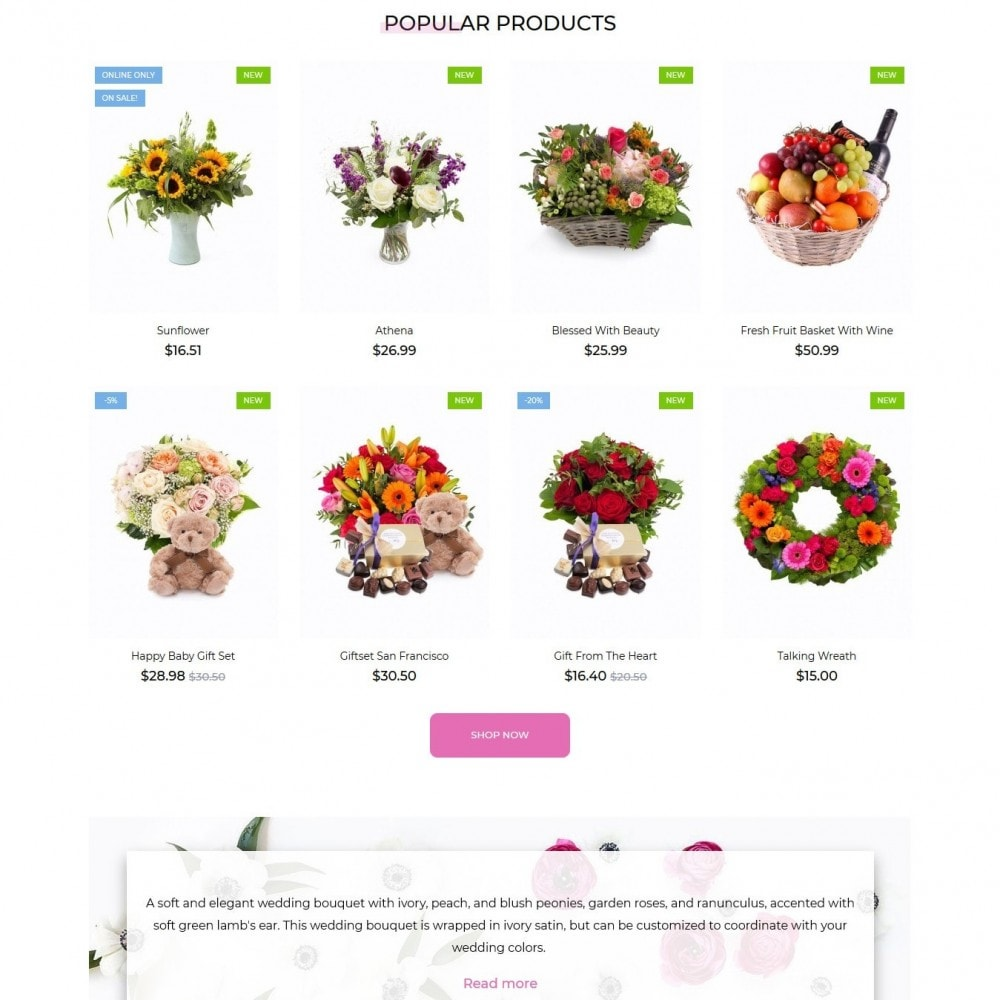 theme - Gifts, Flowers & Celebrations - Verlena - 4