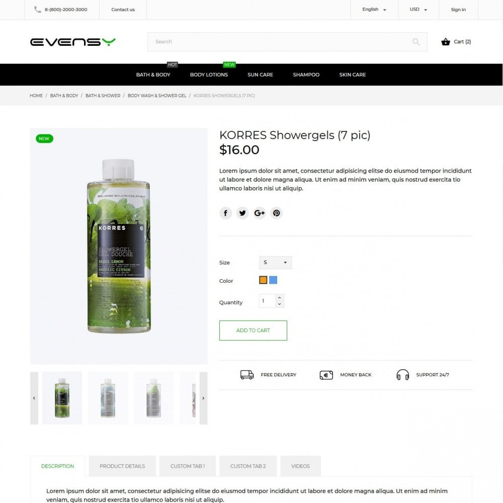 theme - Health & Beauty - Evensy Cosmetics - 7