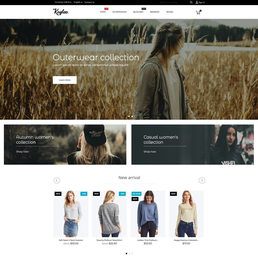 theme - Moda & Obuwie - Kaylee Fashion Store - 2