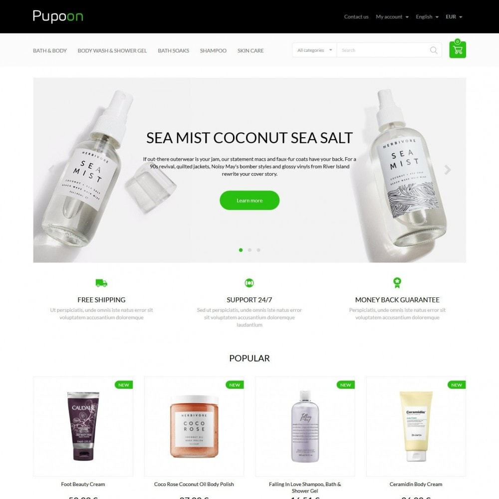 theme - Health & Beauty - Puppon Cosmetics - 2