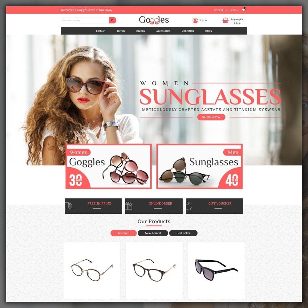 theme - Moda & Calzature - Goggles Shop - 2