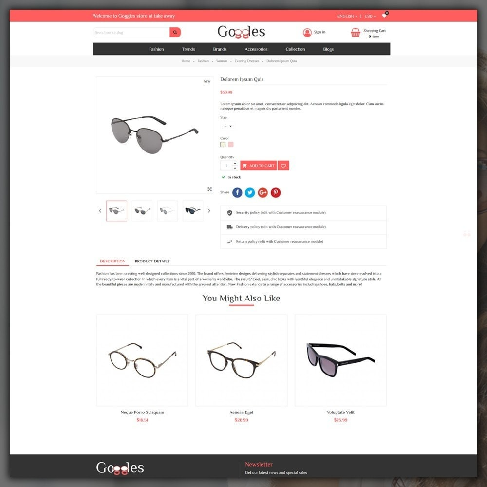 theme - Moda & Calzature - Goggles Shop - 6