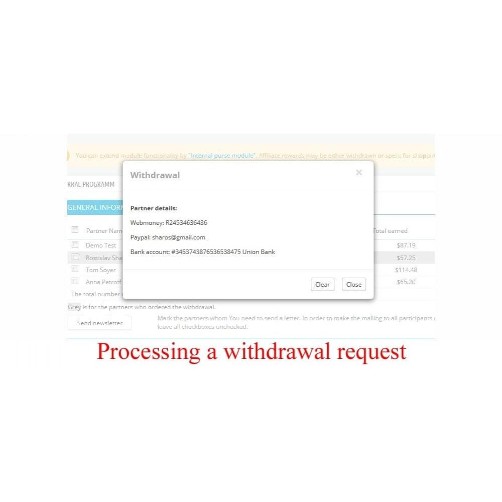 module - Indicizzazione a pagamento (SEA SEM) & Affiliazione - Extended Affiliate Program RefPRO - 10