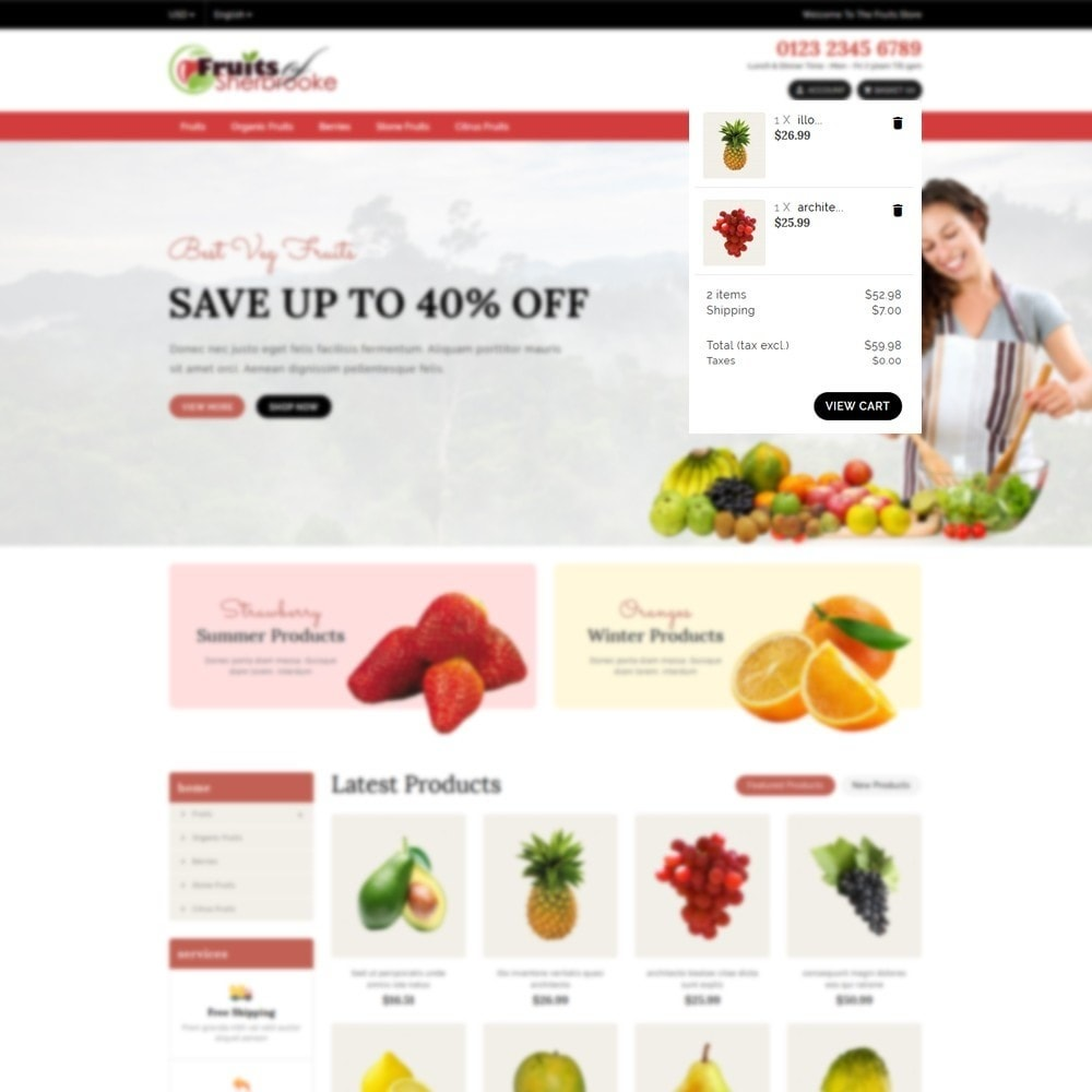 theme - Lebensmittel & Restaurants - Fruits store - 6
