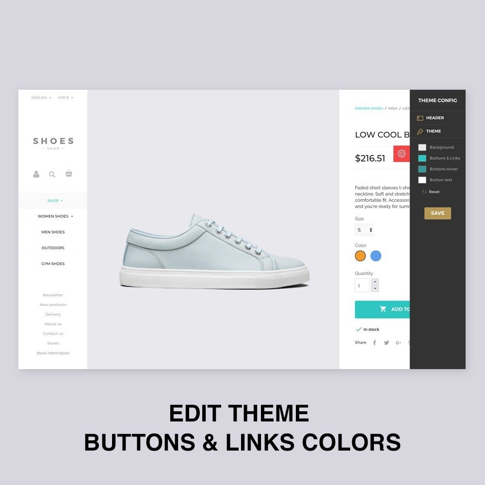 theme - Mode & Chaussures - Configurable Shoes Theme - 5