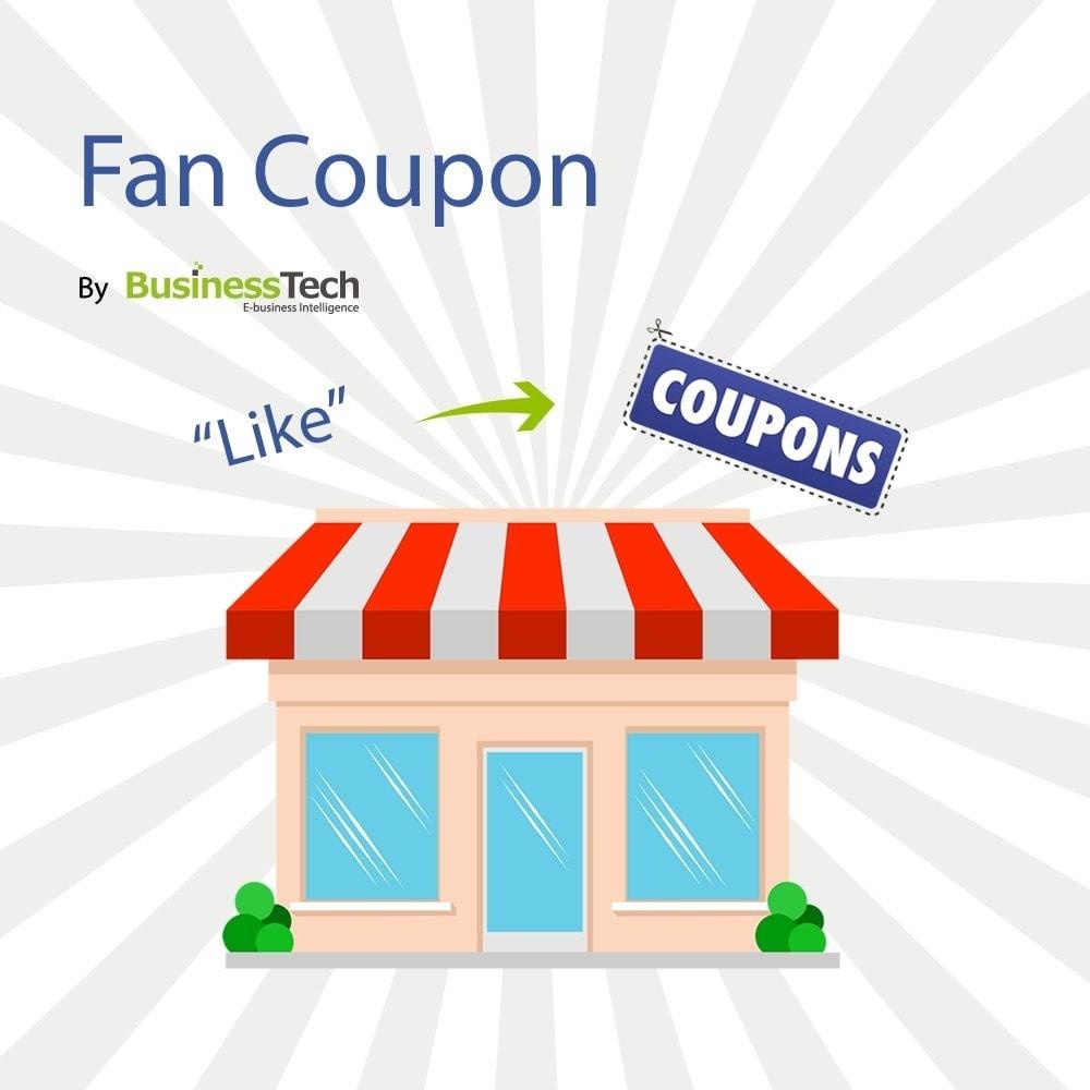 module - Bons de réduction sur les réseaux sociaux - Fan Coupon - 1