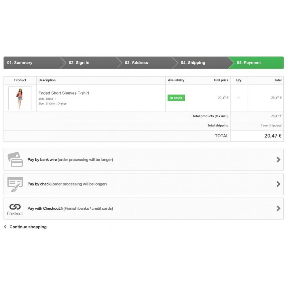 module - Szybki proces składania zamówienia - Checkout.fi - 1