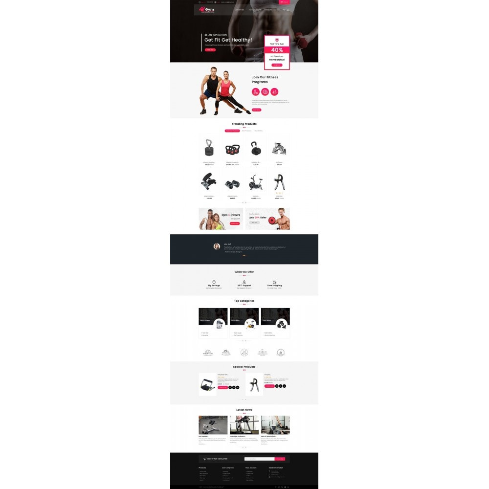 theme - Спорт и Путешествия - Gym Equipment Store - 2