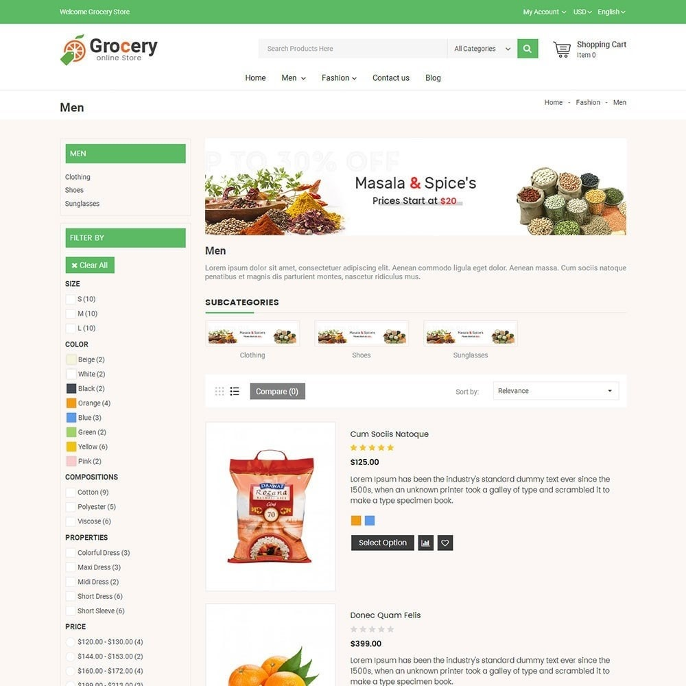 theme - Food & Restaurant - Online Grocery Store - 3