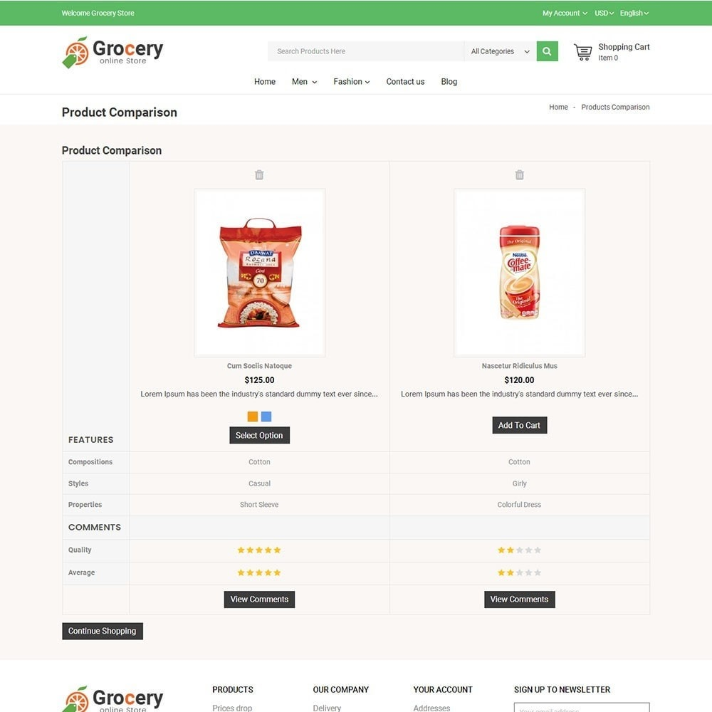 theme - Food & Restaurant - Online Grocery Store - 7
