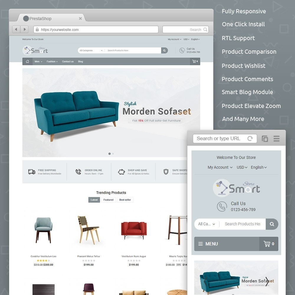 theme - Home & Garden - Furniture Smart Store - 1