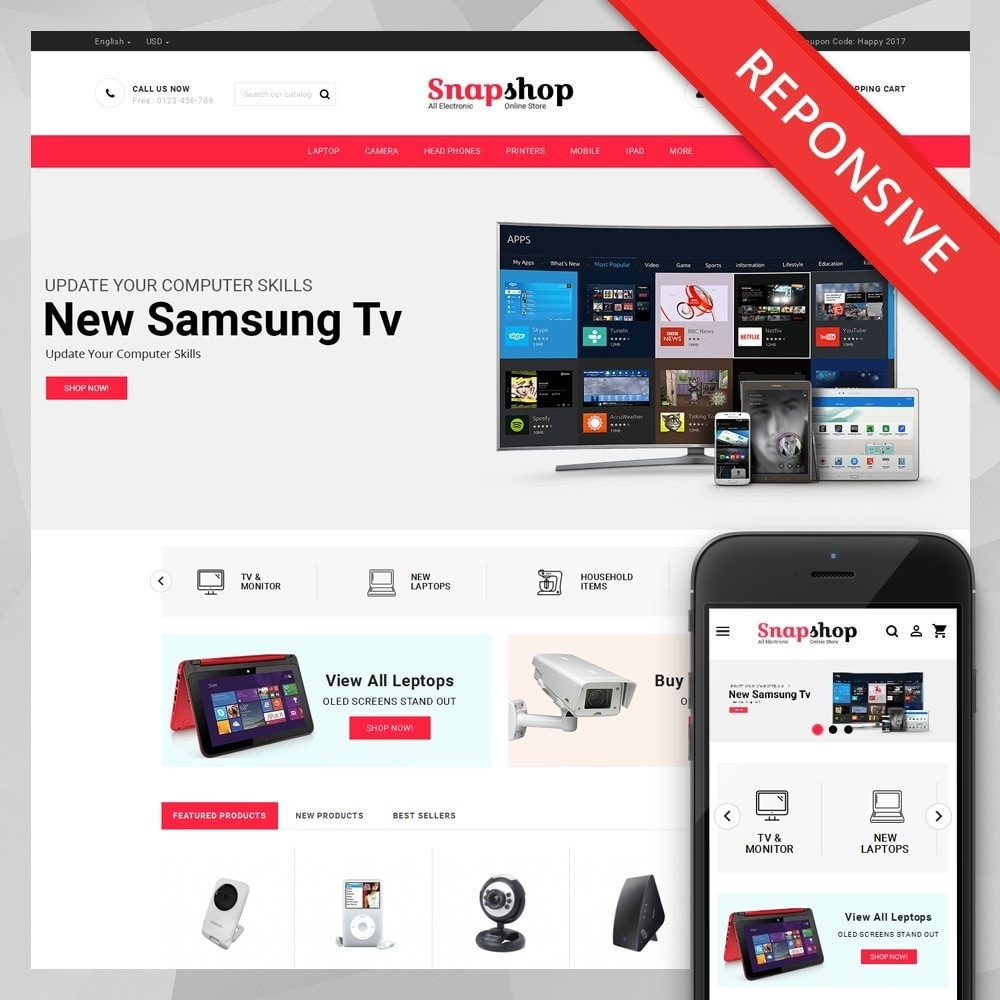 theme - Electronics & Computers - Snapshop - Multi Purpose Store - 1