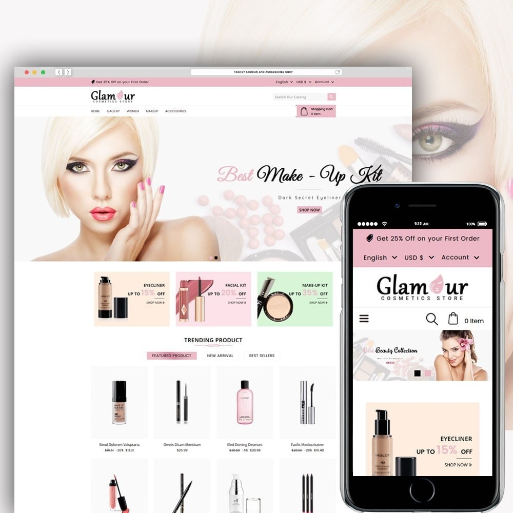 theme - Health & Beauty - Glamour Cosmetics - 1