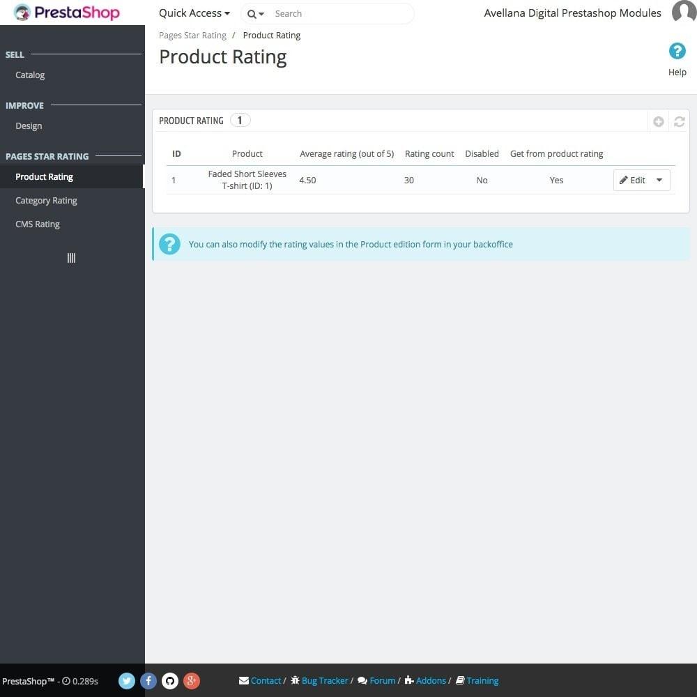 module - SEO (Posicionamiento en buscadores) - Valoraciones páginas Google: Producto, Categoría o CMS - 2