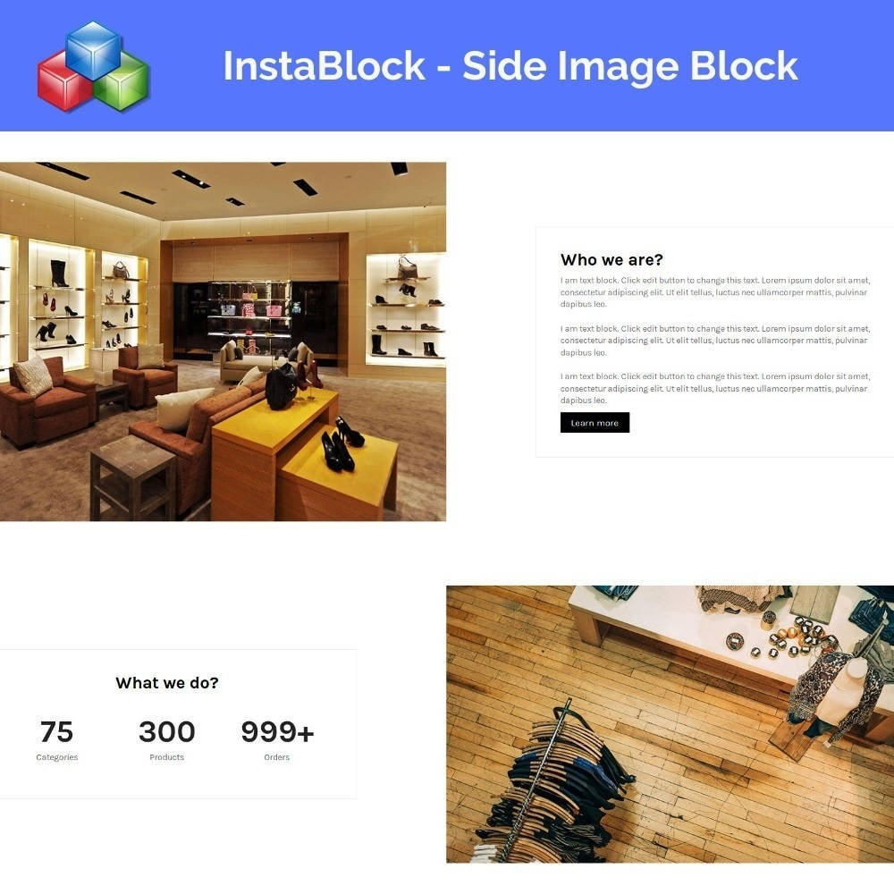 module - Адаптация страницы - InstaBlock - Easy custom blocks - 3