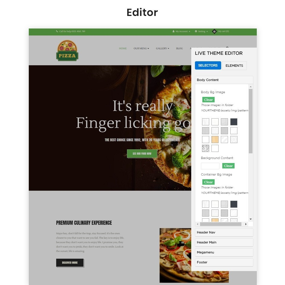 theme - Alimentation & Restauration - Ap Pizza - 3