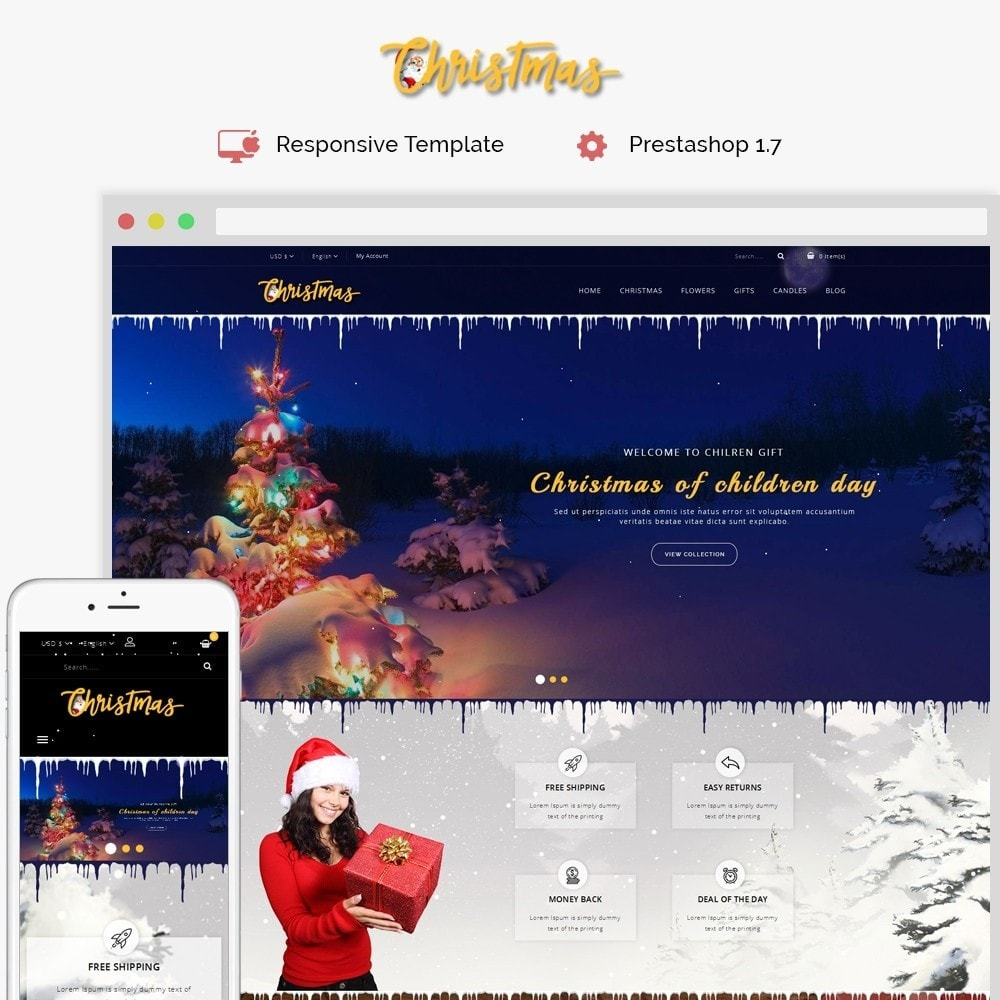theme - Cadeaux, Fleurs et Fêtes - Christmas Store - 1