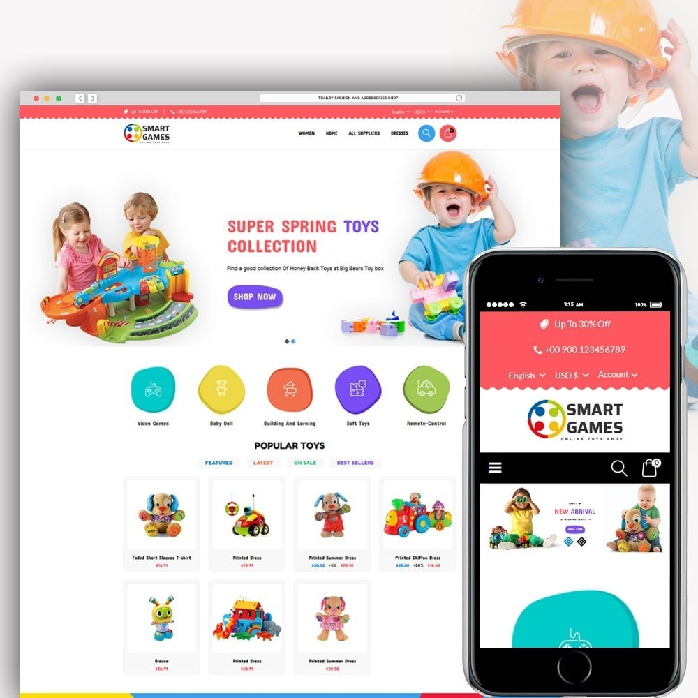 theme - Kids & Toys - Smart Games Toy Store - 1