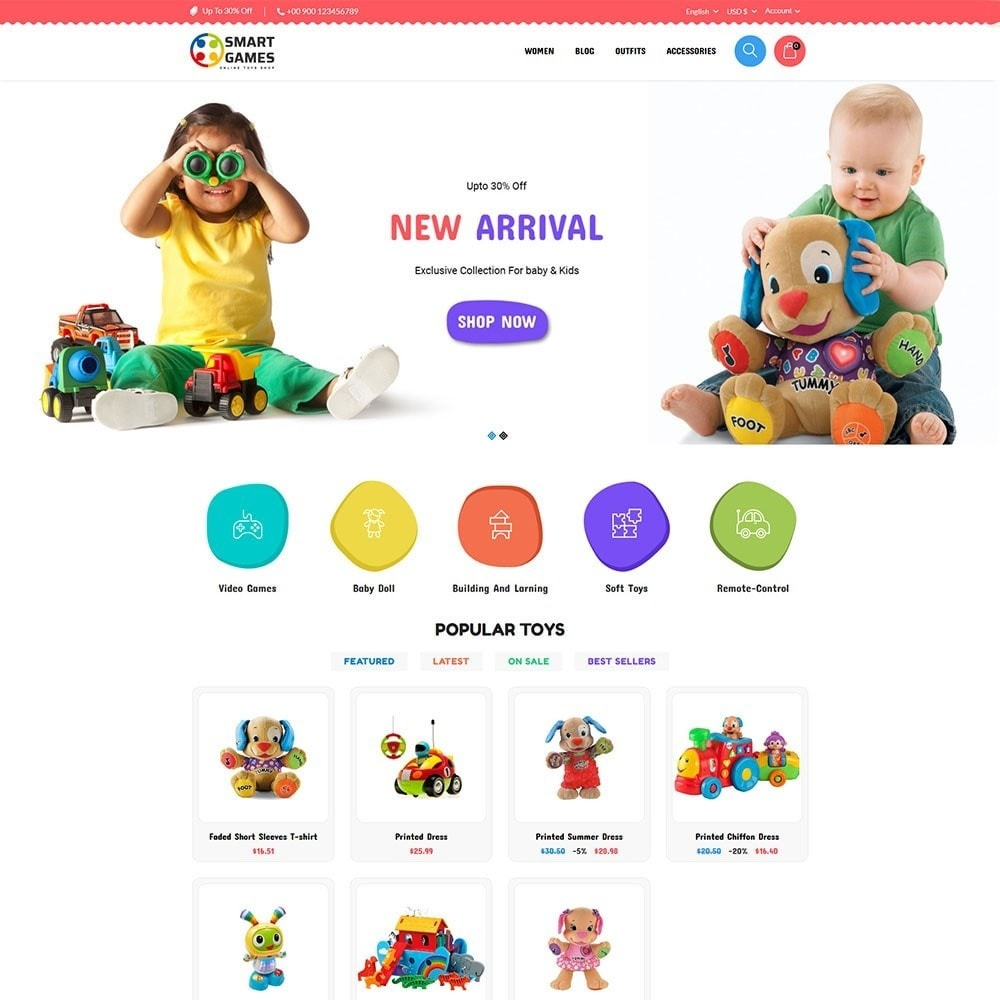 theme - Kids & Toys - Smart Games Toy Store - 2