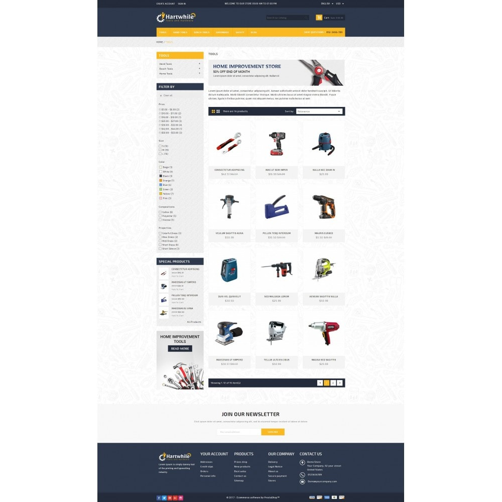 theme - Automotive & Cars - Hartwhile - Tools Store - 3