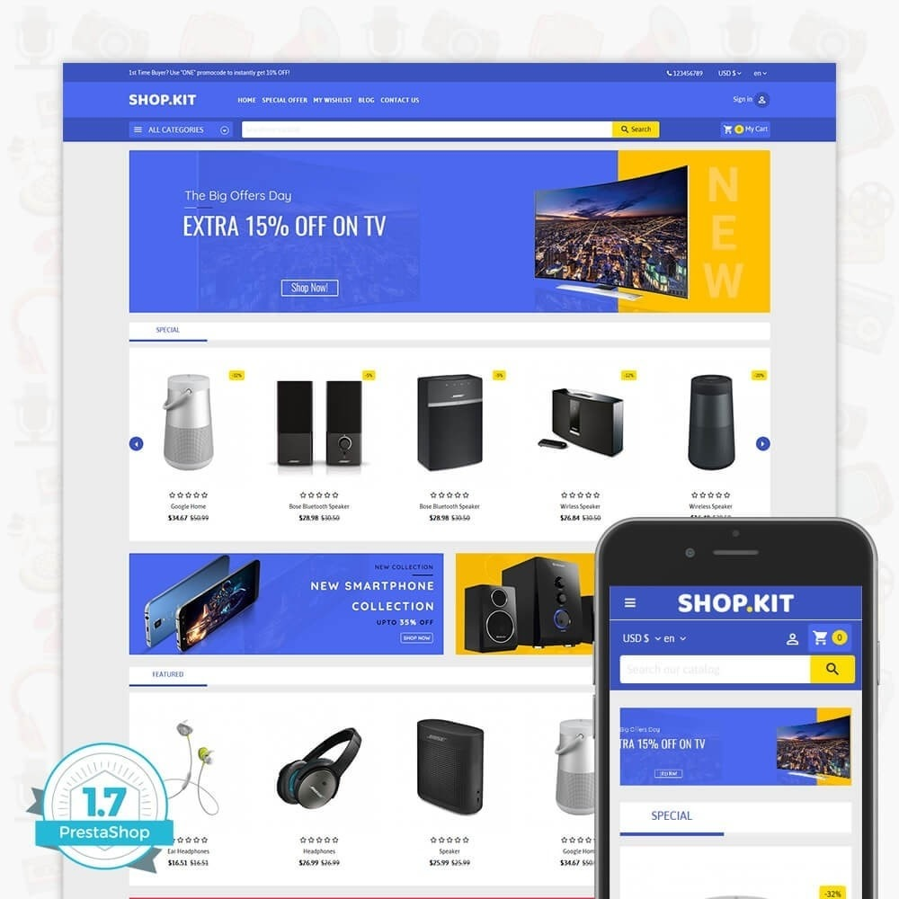 theme - Elektronik & High Tech - Shopkit Multistore - 1