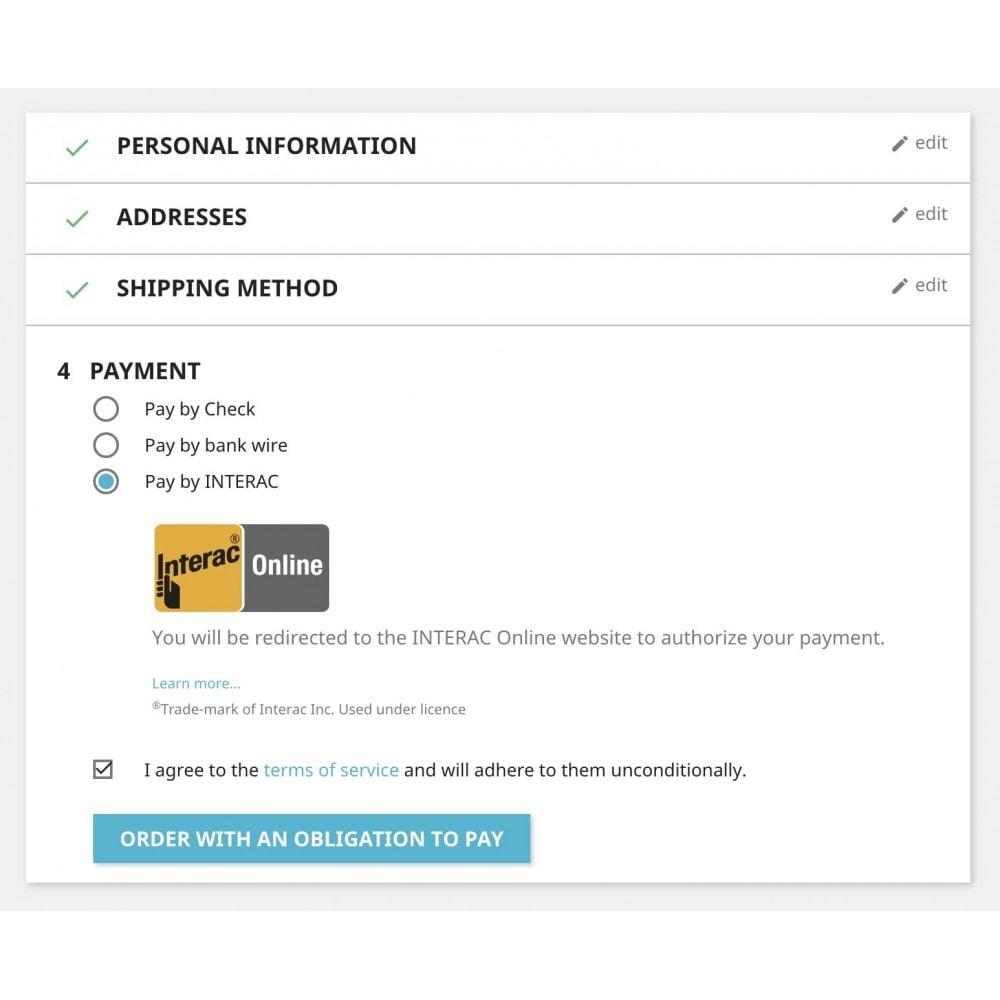 module - Pagamento por cartão ou por carteira - Moneris eSelect Plus INTERAC® Online - 1