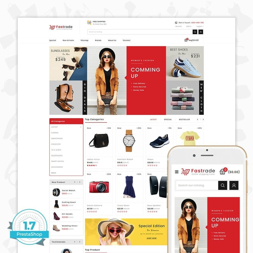 theme - Electronique & High Tech - Fastrade - Online Shopping Trade - 1
