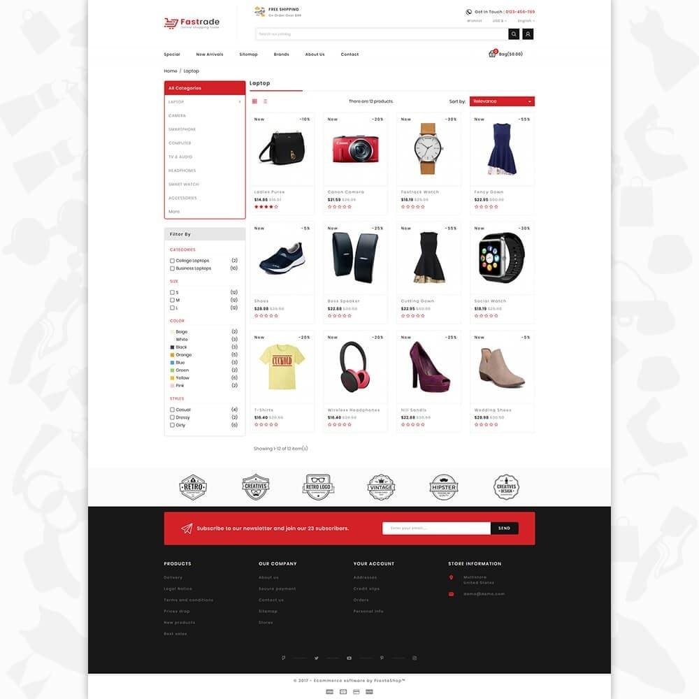 theme - Electronique & High Tech - Fastrade - Online Shopping Trade - 3