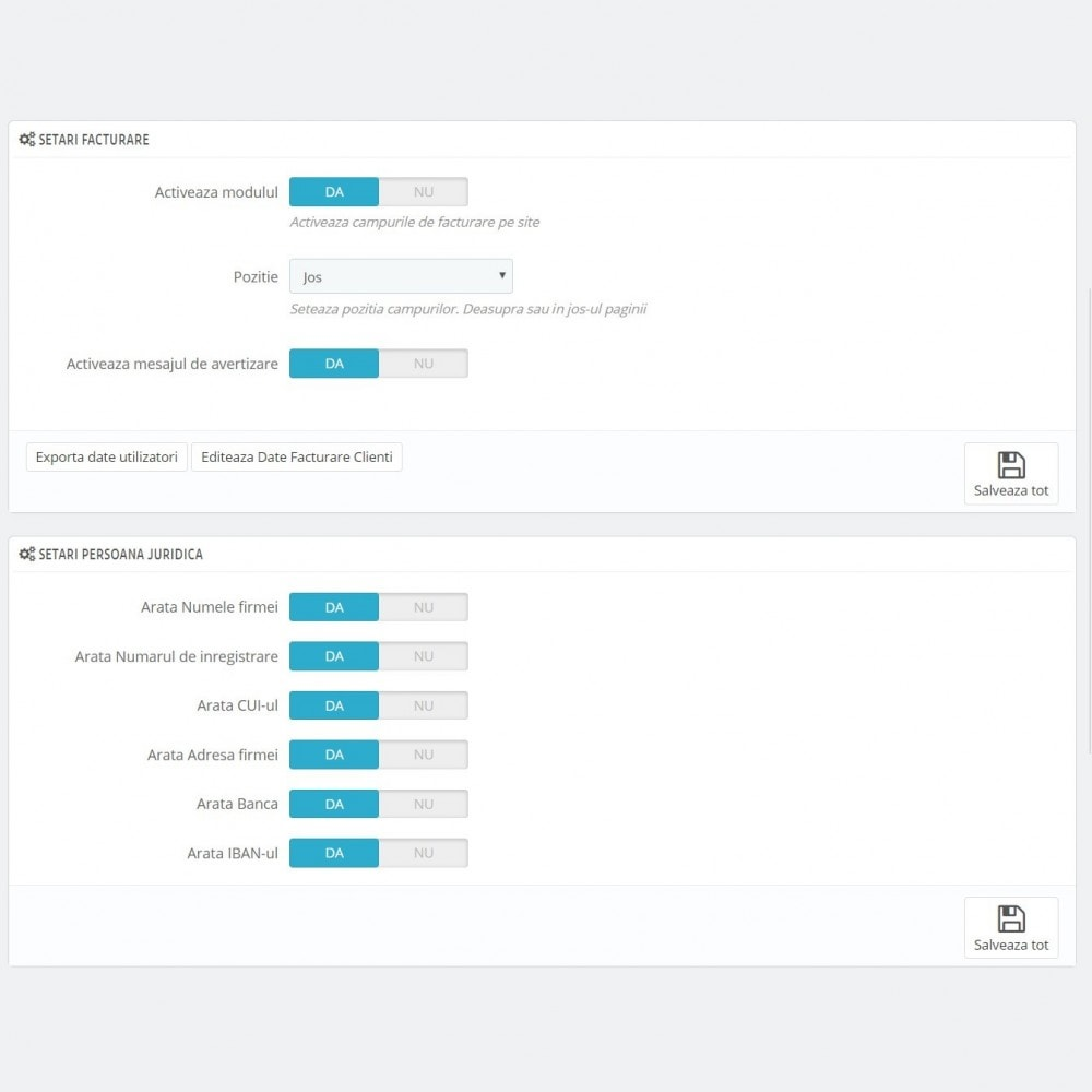 module - Contabilidade & Cobrança - Facturare - Persoana Fizica sau Juridica - 4