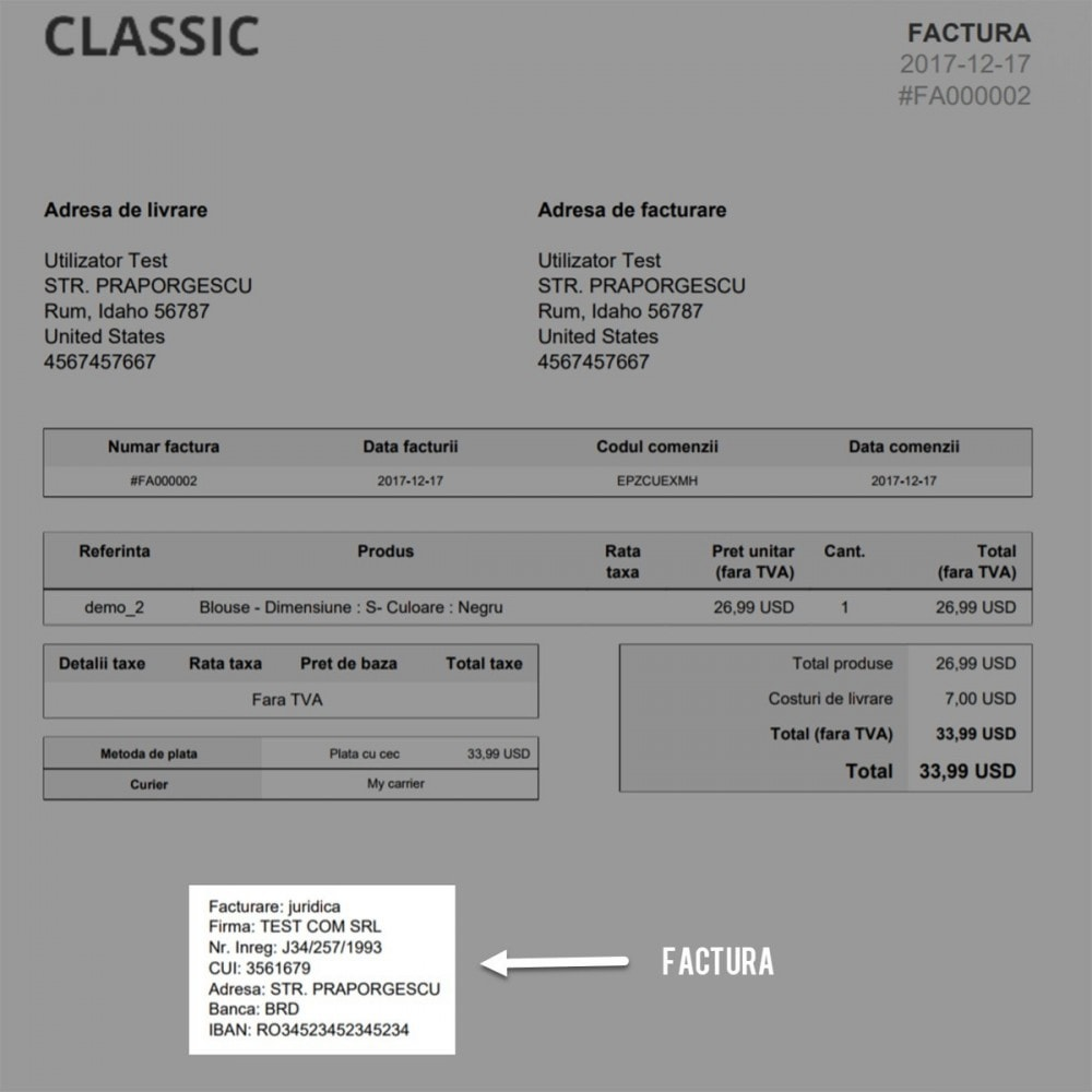 module - Contabilità & Fatturazione - Facturare - Persoana Fizica sau Juridica - 8