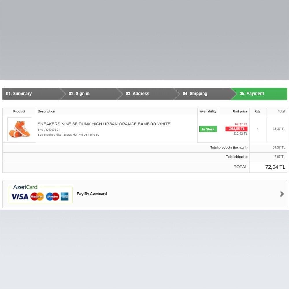module - Оплата банковской картой или с помощью электронного кошелька - AzeriCard Payment Gateway | AzeriCard ONLINE ÖDƏMƏ - 6