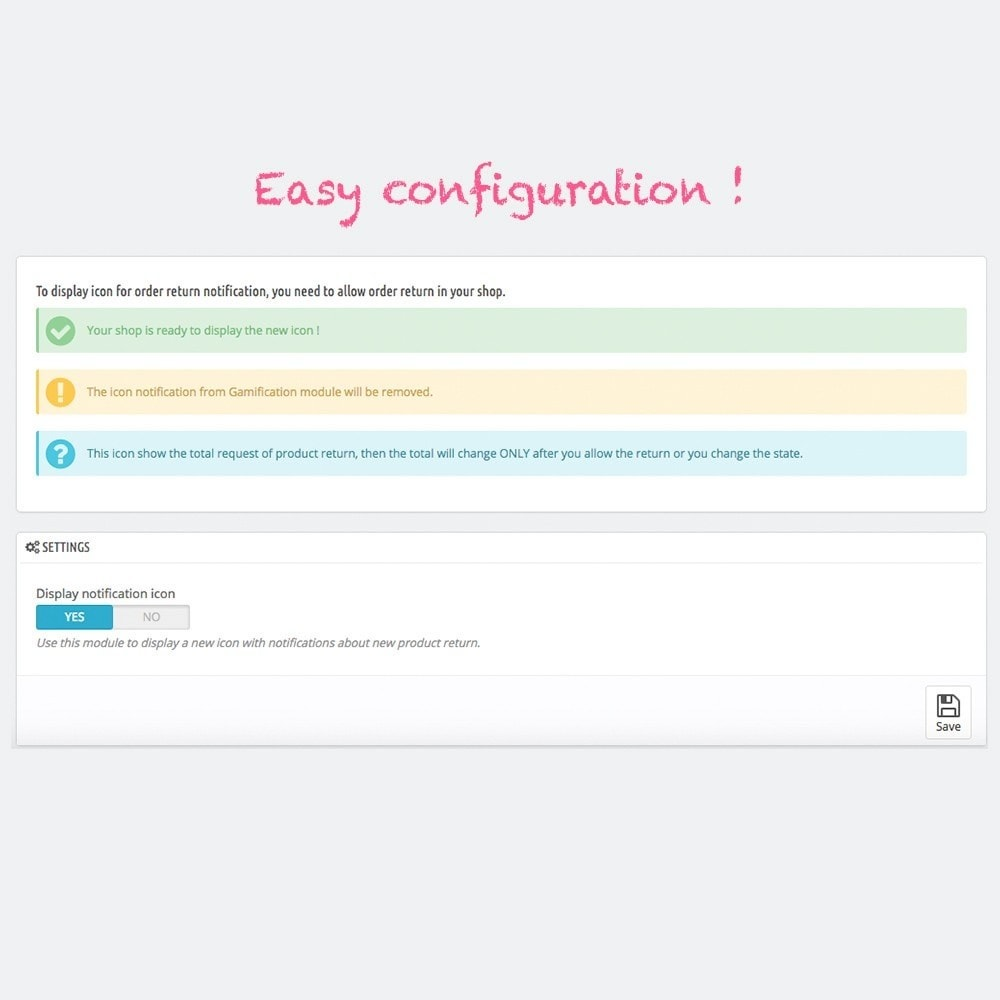 module - Email & Notifiche - Visual notification for order return on shop - 3