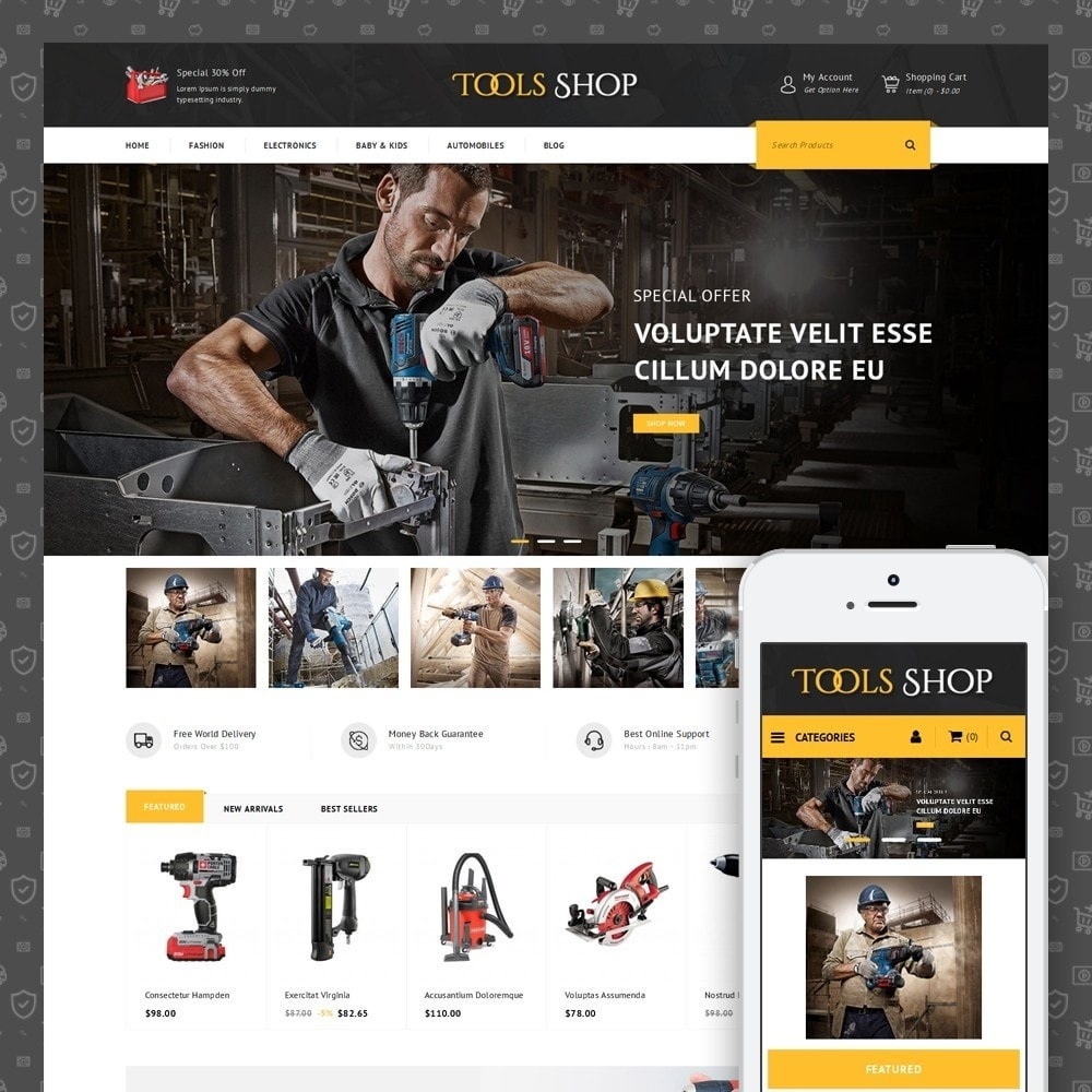 theme - Auto's & Motoren - Tools Shop - 1