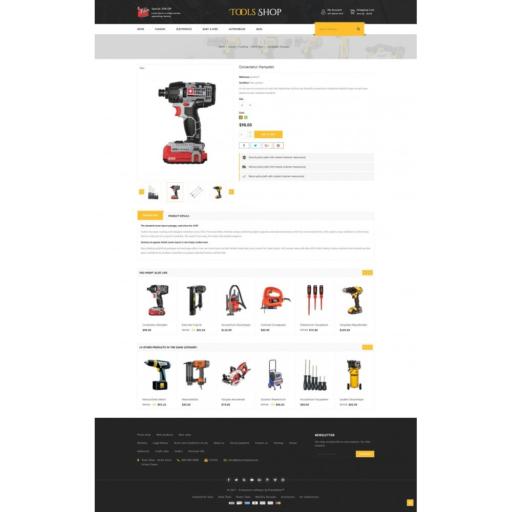 theme - Auto's & Motoren - Tools Shop - 5