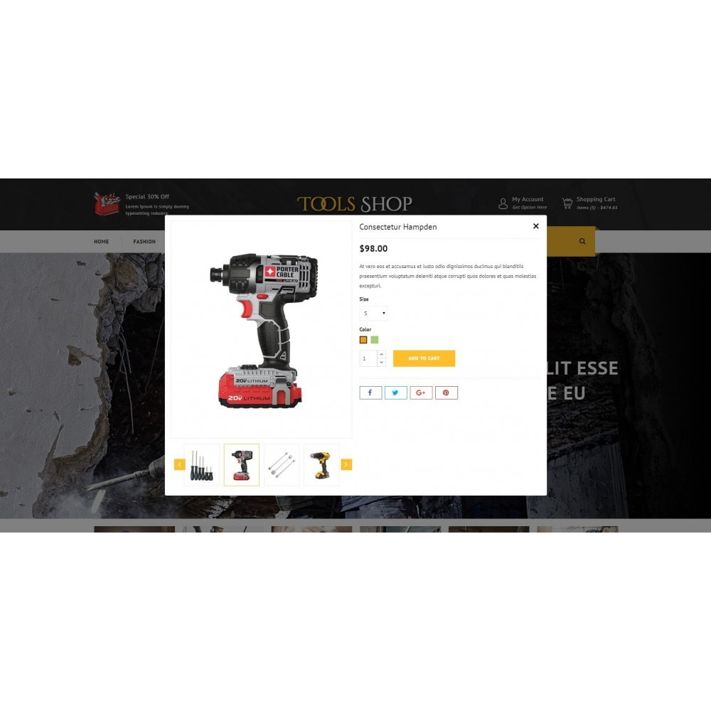 theme - Auto's & Motoren - Tools Shop - 7