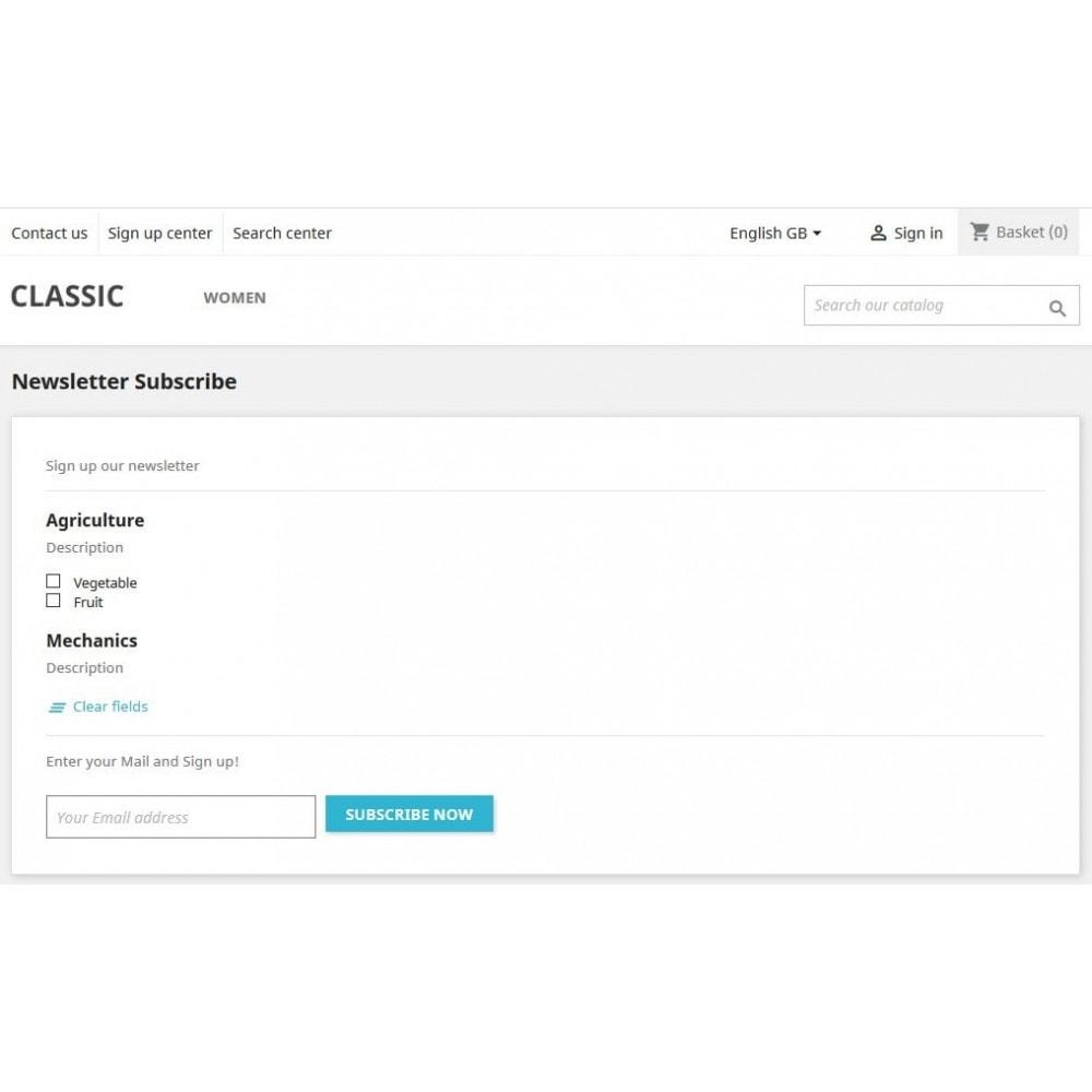 module - Рассылка новостей и SMS - Newsletter Topics - 10