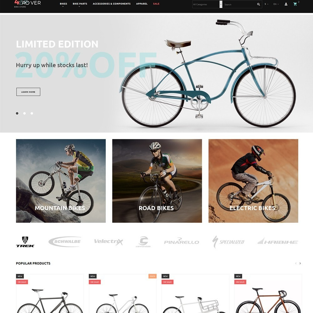 theme - Sport, Loisirs & Voyage - 4Rover - Bike Store - 2