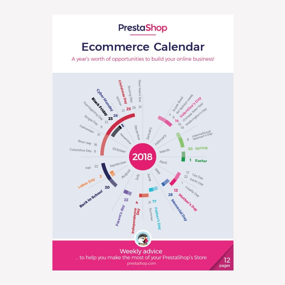 other - Kalender e-commerce - US 2018 eCommerce Calendar - 1