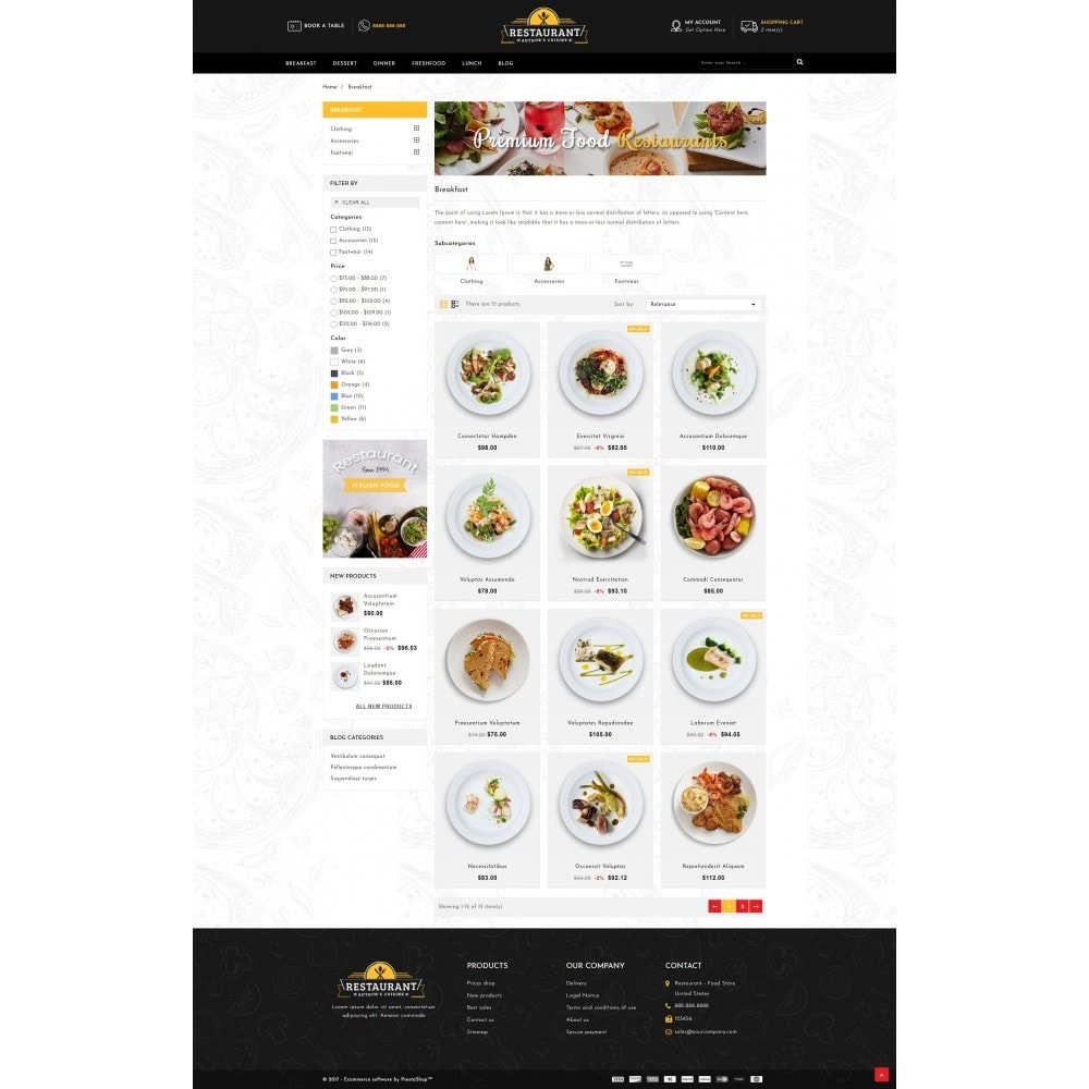 theme - Alimentation & Restauration - Restaurant Food Store - 3