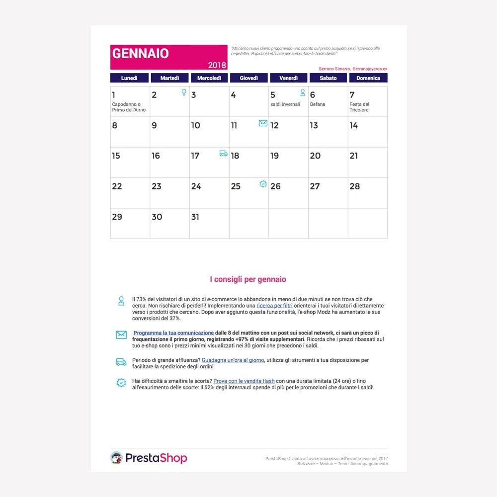 other - Calendario e-Commerce - Calendario e-Commerce 2018 Italia - 2