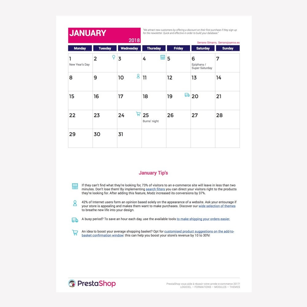 other - Kalender e-commerce - UK 2018 eCommerce Calendar - 2