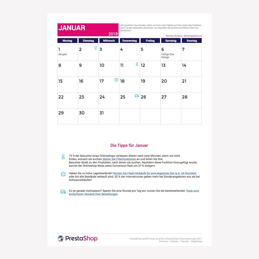 other - Calendário ecommerce - Germany 2018 eCommerce Calendar - 2
