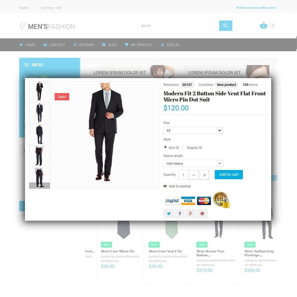 theme - Moda y Calzado - Men's Fashion - para Sitio de Tienda de Ropa - 4