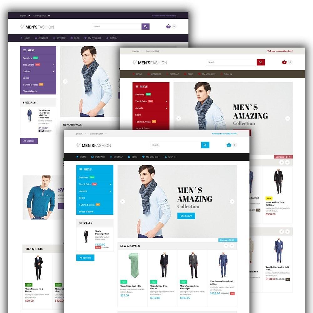 theme - Мода и обувь - Men's Fashion - шаблон на тему мужская мода - 2