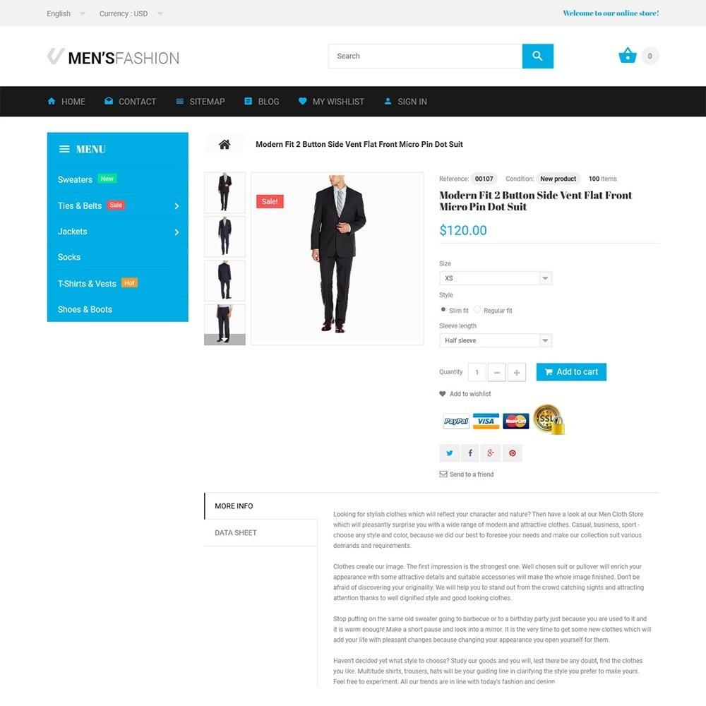 theme - Мода и обувь - Men's Fashion - шаблон на тему мужская мода - 3
