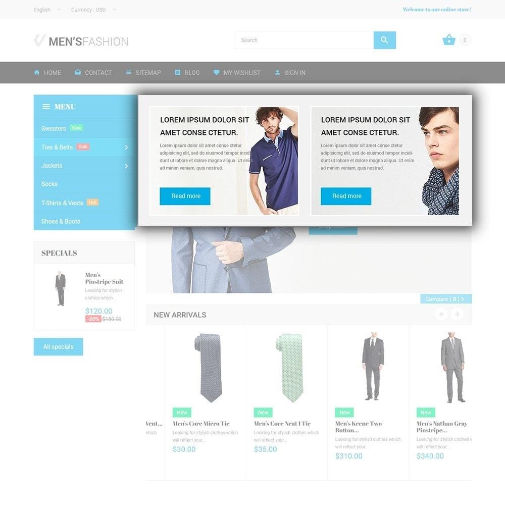 theme - Мода и обувь - Men's Fashion - шаблон на тему мужская мода - 5