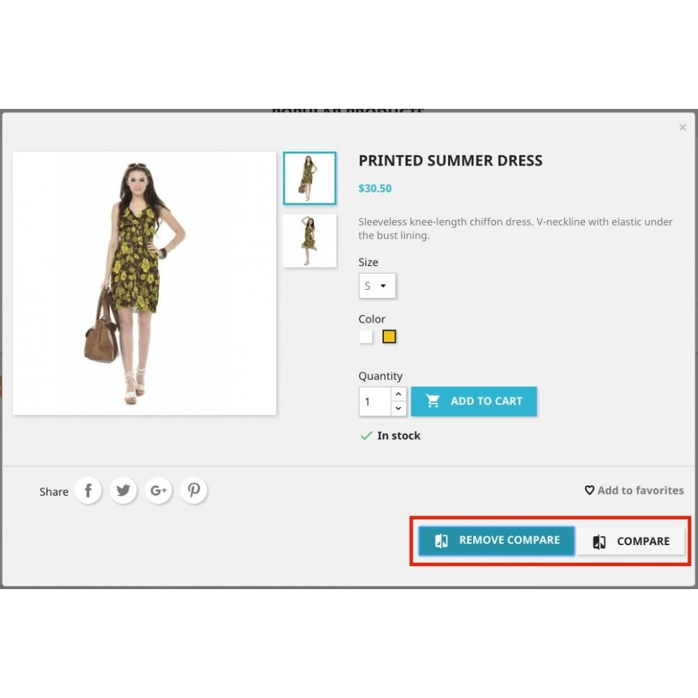 module - Comparatori di prezzi - Add to compare products (from Basket/Cart UpSale) - 3