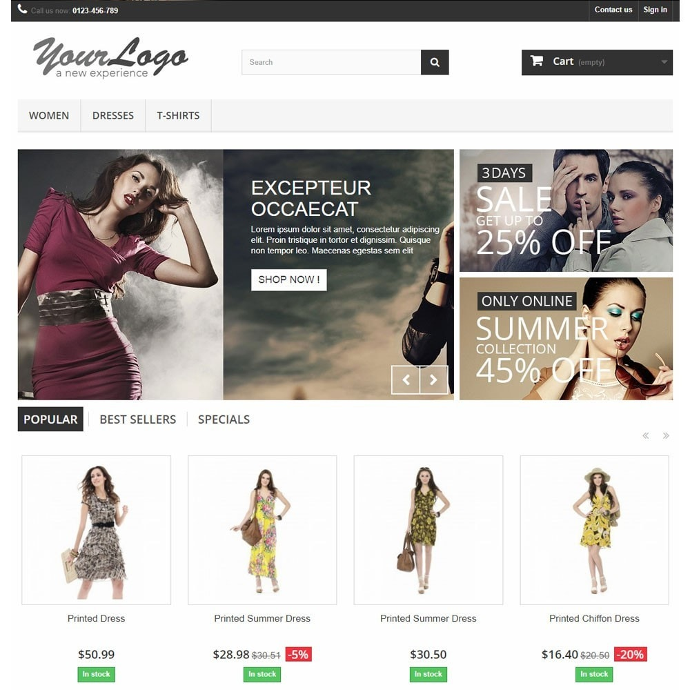 module - Produits en page d'accueil - Homepage Carousel with Products in Tabs - 2